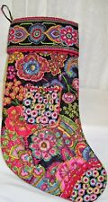 Vera Bradley Quilted Christmas Stocking with Front Pocket