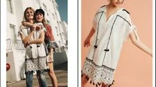 Anthropologie Aditya Embroidered Tunic Dress Cotton Small $188