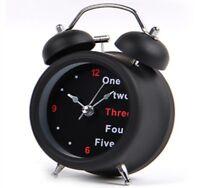 Double Bell Desk Light Modern Mute Silent Alarm Clock