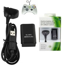 USB Charger Cable Lead For Microsoft Xbox 360 Wireless Controller Gamepad Black