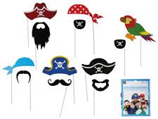 12er Set Party Foto Verkleidung auf Stick Piraten Hut Karneval Fasching Selfie