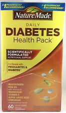 Expiration 09/18 Nature Made Daily Diabetic Health Pack Dietary Supplement 60 pk