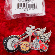 Hard Rock Cafe Pin ATLANTA ANGEL Winged MOTORCYCLE 2 FLAMES CHOPPER MIP LOGO LE