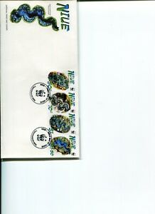2002 WWF NIUE Small Giant Clam Post Office Official First Day Cover.