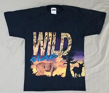 Vintage 1990's Wild Side Deer Hunting t-shirt size MEDIUM M shirt hunter