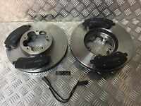 *Ford Transit TDCi MK7 SWB FWD Front Brake Discs Pads with ABS RINGS and SENSORS