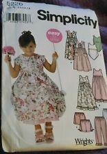 Simplicity Child's Dress,Slip Dress,Top,Pants,Shorts Pattern 5226 Size 3-8 UNCUT