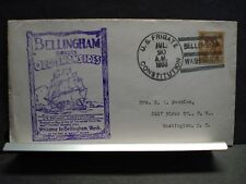 USS CONSTITUTION Naval Cover 1933 BELLINGHAM, WASHINGTON Cachet
