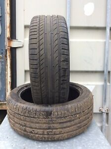 TWO 225-45-18 CONTINENTAL XL  PART WORN  TYRES