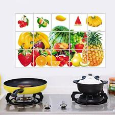 Fruits Kitchen Waterproof Sticker Bathroom Tile For Wall Sticker Home Decor