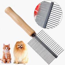 Peine de Mascotas Perros Gatos de Acero Inoxidable y Madera para Piojos Durable