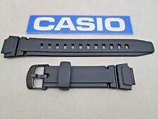 Genuine Casio AQ-180W W-213 black resin rubber watch band strap 14mm lug