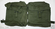 British Army 58 Pattern webbing Kidney pouches for rations & supplies - unissued