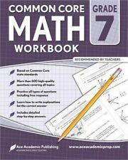 7th Grade Math Workbook: Commoncore Math Workbook (Paperback or Softback)