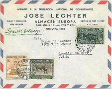 MOUNTAINEERING AUTO CARS -  STAMPS on COVER : COLOMBIA 1958