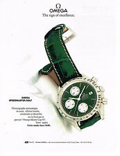 PUBLICITE ADVERTISING  1992   OMEGA   montre SPEEDMASTER GOLF