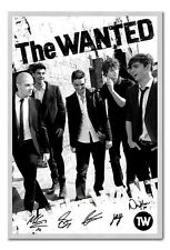 The Wanted Black & White Poster Silver Framed Ready To Hang Frame Free P&P