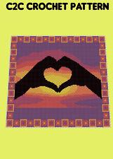 Loving Hands Blanket  - C2C/Graphghan Crochet Pattern