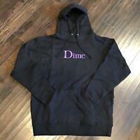 NEW Dime Beast Hoodie Large Black Hoodie Purple logo bogo - Size Large