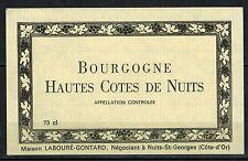 Etiquette de Vin - Bourgogne -Hautes Cotes de Nuits- New- Never Stuck - Réf.n°91