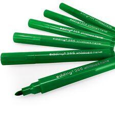 Edding 366 Mini pizarra marcador Pluma-seco limpie - 1.0mm - Verde-Paquete de 6