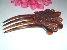 Vintage Mantilla Spanish Faux Tortoise Ornate Fan Hair Comb