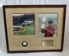 Tiger Woods 2000 US Open Champion Pebble Beach Photo Frame With Gold Ball
