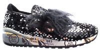 Scarpe Donna Sneakers PREMIATA Giusy 1802 Paillettes Piume Nuove