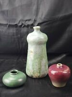 Pair of Studio Pottery Vases - Laslo for Mikasa and Studio Artist Signed