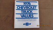 """1976 CHEVROLET """"TRUCK VALUES """" SALESMAN'S HANDBOOK"""