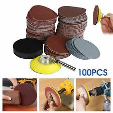 100Pcs 80-3000# Grit Mixed Sander Sanding Discs Pads Hook & Loop Sandpaper 2Inch
