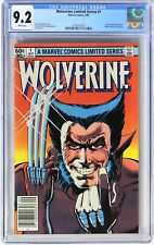 E298. WOLVERINE LIMITED SERIES #1 CGC 9.2 NM- (1982) 1st Solo WOLVERINE Comic