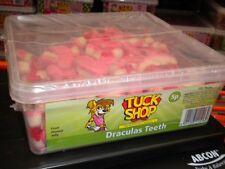 TUCK SHOP 120 DRACULAS TEETH 800g TUB  UK SWEETS PARTY HALLOWEEN BIRTHDAY ETC
