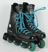 Vintage Rollerblade Zetra 303 Mens 7.5 Black Teal Inline Skates Roller Blades