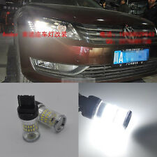 2x White Reflector LED Bulbs Daytime DRL Lights For Volkswagen B7 Passat Beetle
