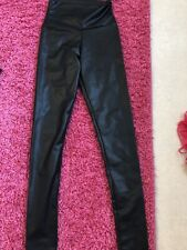 Leather Look Leggings Trousers Size Xs Uk Size 6