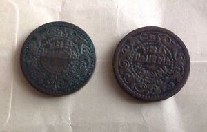India Half Pice Two Coins Gwalior State