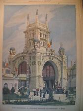 LIEGE EXPOSITION UNIVERSELLE CENDRES AMIRAL JONES JOURNAL LE PETIT PARISIEN 1905
