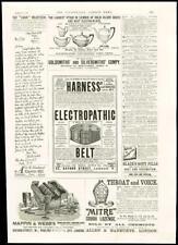 1887 - ADVERTISING HARNESS ELECTROPATHIC BELT GOLDSMITH SILVERSMITH MITRE (23)