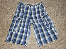 Boys shorts size 14 Ruff Hewn shorts size 14 Blue Plaid Cargo shorts size 14