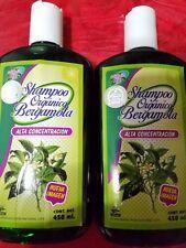 2 Organic Bergamot Shampoo Stimulate Growth 15 fl oz ea 100 % Original Fast Ship