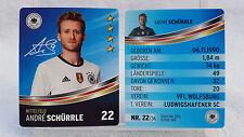 REWE Fussball EM 2016 EURO Sammelkarte  Nr. 22 Andre SCHÜRRLE