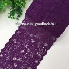 1 yard, Flower Stretch Lace Trim Ribbon Sewing Dress Skirt DIY Handicraft FL186