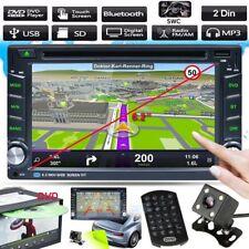 "6.2"" Double 2DIN Quad Core Bluetooth Car Stereo DVD CD MP3 Player Radio+Camera"