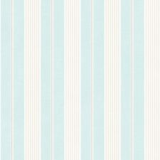 G67324 - Jardin Chic Aqua, Beige & White Striped Galerie Wallpaper