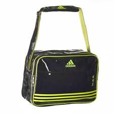 adidas shiny Sports bag. 46x32x19cm. Schwarz/Gelb. Mehrere Fäche. Lifestyle.