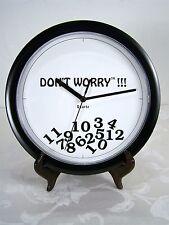 "MRA Enterprise Don't Worry !!! Wall Clock Funny Gag Black Quartz 10"" Batt Op"