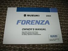 2004 / 04 Suzuki Forenza Owners Manual   only