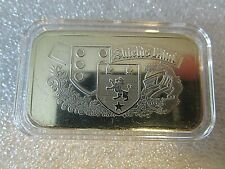 1oz Shields Mint Vintage .999 Fine Silver Art Bar - encapsulated