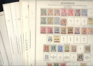 SEYCHELLES, Excellent  Stamp Collection hinged on Minkus pages